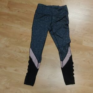 RBX Pants - Strappy Gray & Pink RBX Leggings